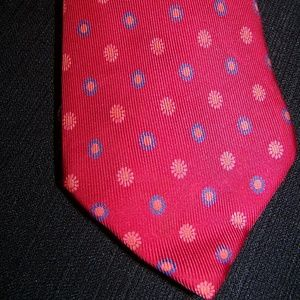 j. Crew red with flowers tie